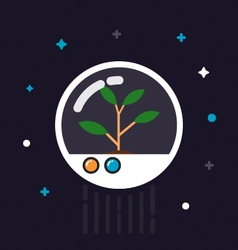 439plant on spaceVS vector image