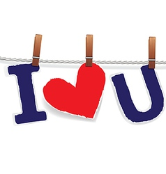 hearts love rope vector image vector image
