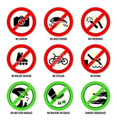 Park signs - set II vector image vector image