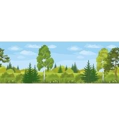 Seamless Horizontal Landscape Summer Forest vector image vector image