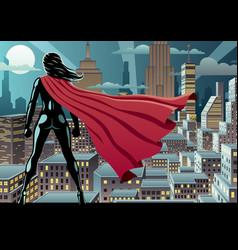 super heroine watch 3 vector image vector image