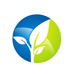 plant leaf botany environment logo vector image vector image