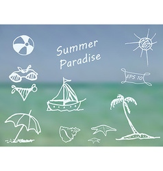 Summer Paradise vector image