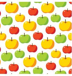 Apples seamless pattern vector