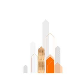 Arrows up background orange gray vector