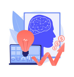 Artificial intelligence in financing abstract vector