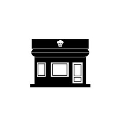 bakery shop building icon vector image