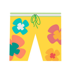 beach shorts in flat design vector image
