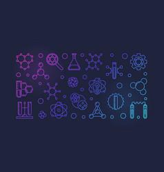 biochemistry outline colored banner or vector image