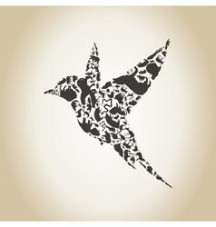 Bird an animal vector