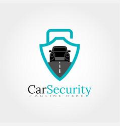 Car shield logo design template element vector