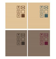 Cardbox textures vector