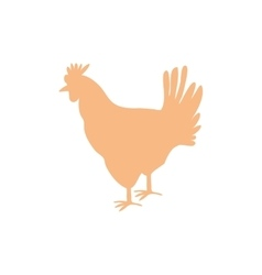 Chicken meal silhouette vector