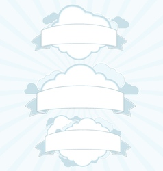 Cloud service vintage banner set vector image