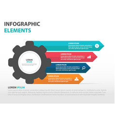 colorful cog gear business infographics elements vector image
