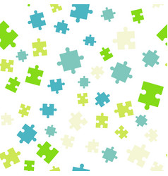 Colorful puzzle seamless background pattern vector