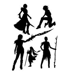 Costume silhouette vector