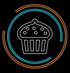 cupcake muffins - dessert vector image
