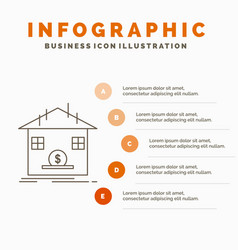 deposit safe savings refund bank infographics vector image
