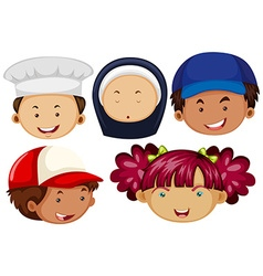 Different people with happy faces vector image