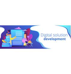 digital transformation concept banner header vector image