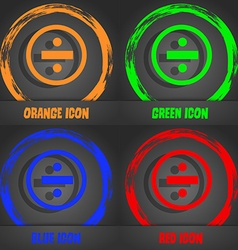 Dividing icon sign Fashionable modern style In the vector