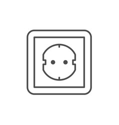 Electric socket line outline icon vector