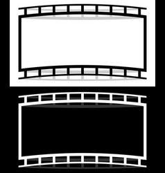 Film strip shape elements with distortion for vector
