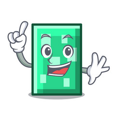 Finger rectangle mascot cartoon style vector