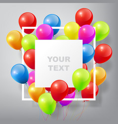 Flying realistic glossy colorful balloons vector