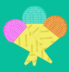 font design ice cream cones vector image