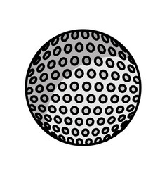 golf sport ball icon vector image