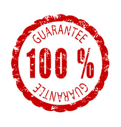 guarantee rubber stamp vector image