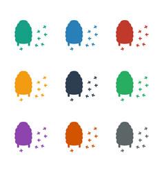 Honeycomb icon white background vector