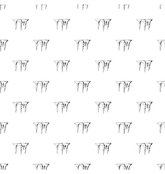 Icicles pattern simple style vector
