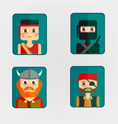 Icon avatar combat characters vector