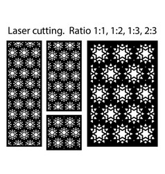 laser cutting panel template cnc decor vector image