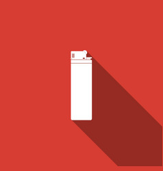 lighter icon isolated with long shadow vector image