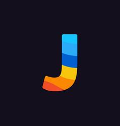 logo letter j colorful blue red orange vector image
