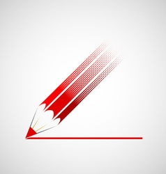 Logo red pencil vector