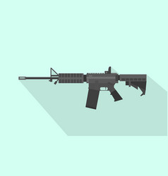 m4 carbine riffle gun with flat style and long vector image