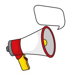 megaphone speaker cartoon vector image
