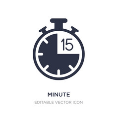 Minute icon on white background simple element vector