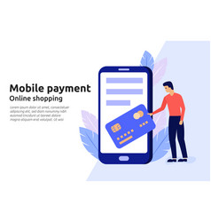 mobile payment online service for modern business vector image