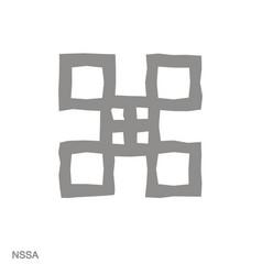 Monochrome icon with adinkra symbol nssa vector