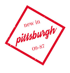 New in pittsburgh rubber stamp vector