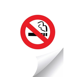No smoking sign on paper vector