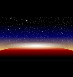 Planet and starry sky vector