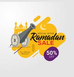 ramadan sale banner template design background vector image