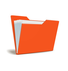 red folder with documents vector image